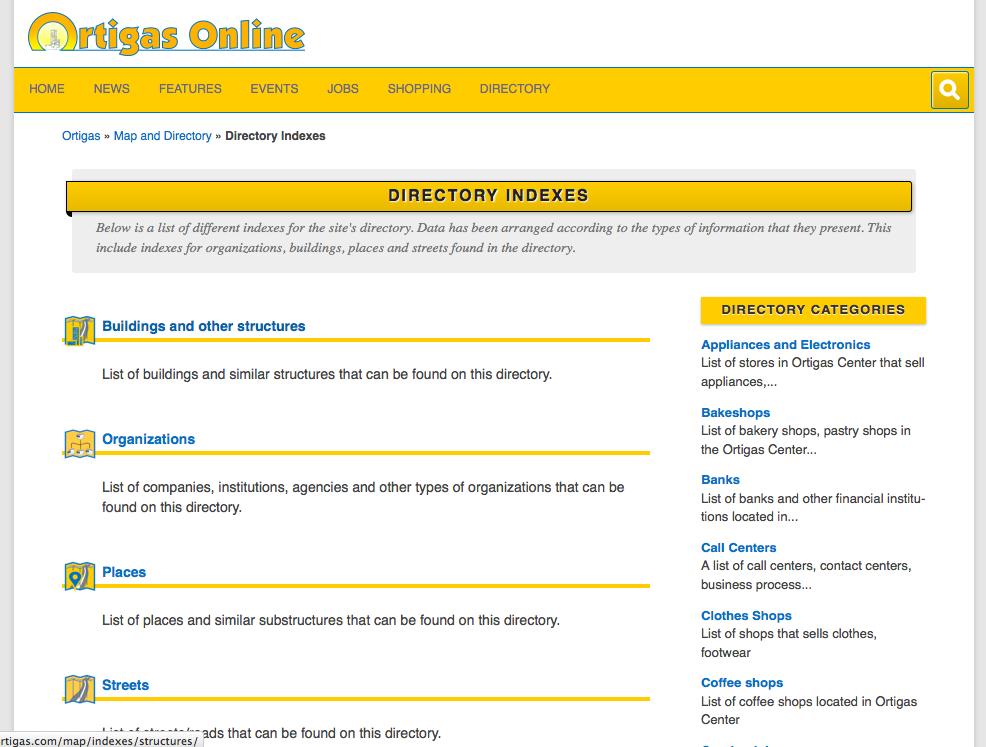 Ortigas-Online-Directory-Indexes